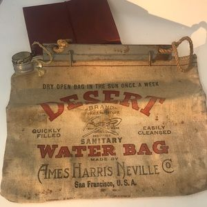 Vintage Desert Brand Water Bag Ames Harris Neville